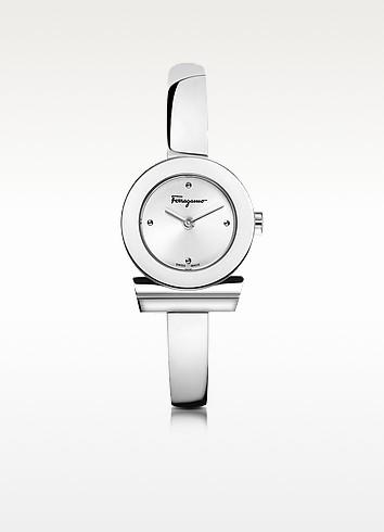 Gancino Silver Stainless Steel Women's Watch - Salvatore Ferragamo