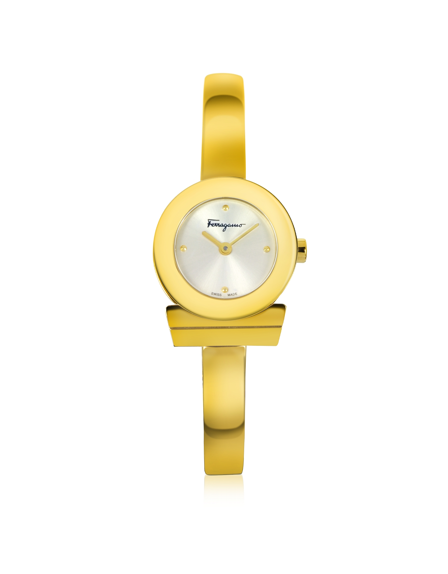 Salvatore Ferragamo Women's Watches, Gancino Gold IP Stainless Steel Women's Watch