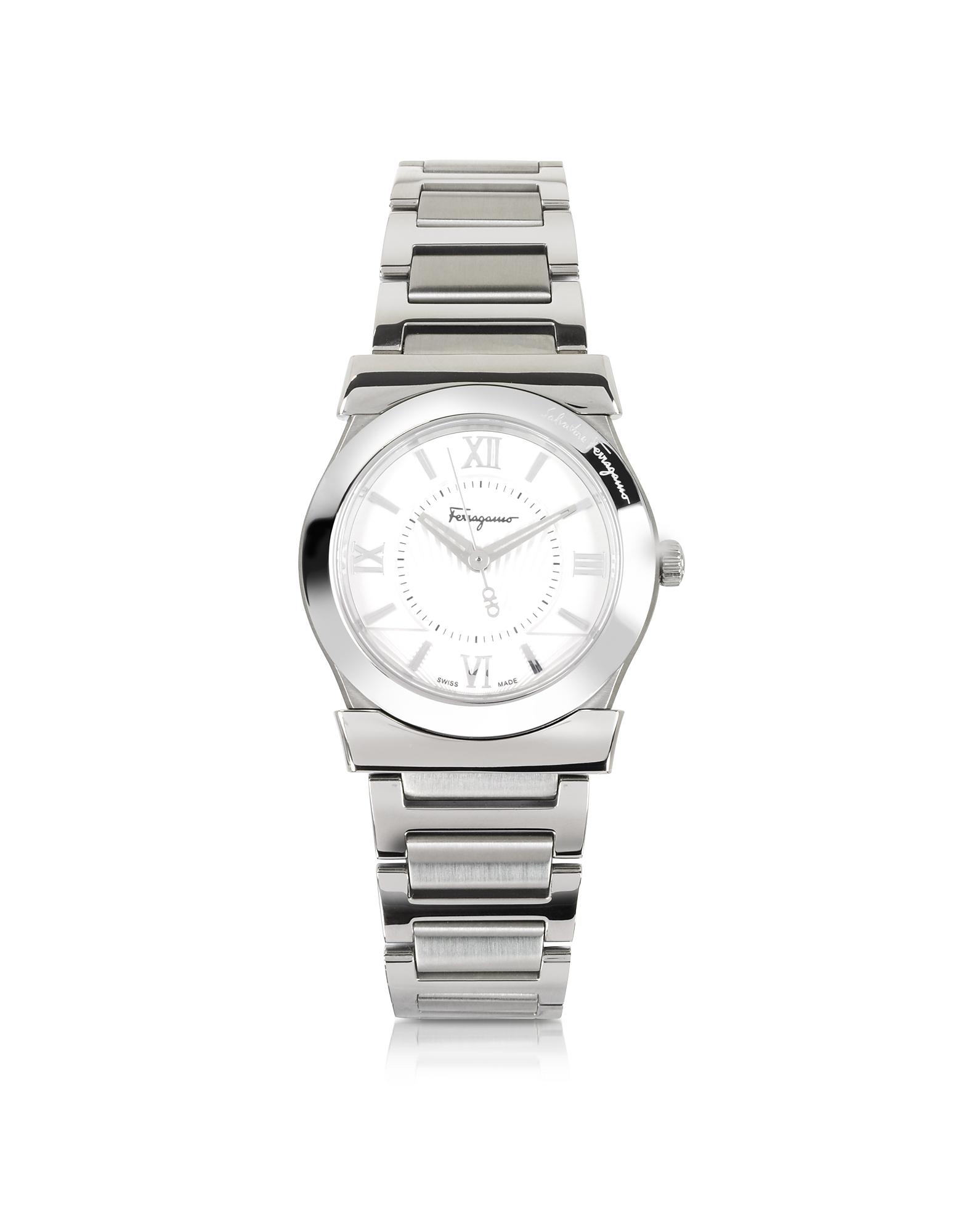 Salvatore Ferragamo Women's Watches, Vega Silver Tone Stainless Steel Women's Watch