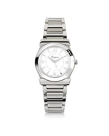 Vega Silver Tone Stainless Steel Women's Watch - Salvatore Ferragamo