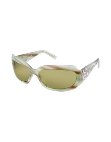 Salvatore Ferragamo Gancini Swarovski Crystal Sunglasses