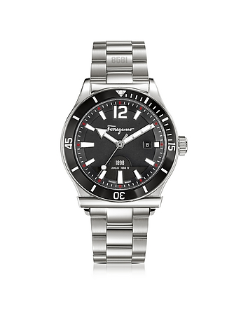 Ferragamo 1898 Sport Silver Stainless Steel Men's Bracelet Watch