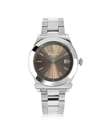 Salvatore Ferragamo - Ferragamo 1898 Silver Tone Stainless Steel Men's Watch