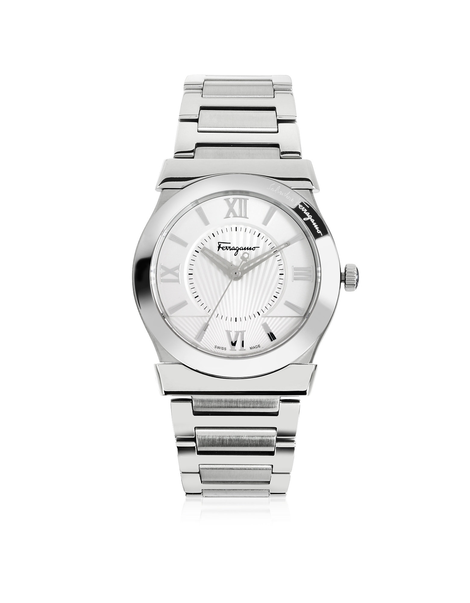 Vega Silver Tone Stainless Steel Men's Watch