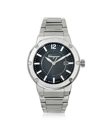 Salvatore Ferragamo - F-80 Silver Tone Stainless Steel Men's Watch