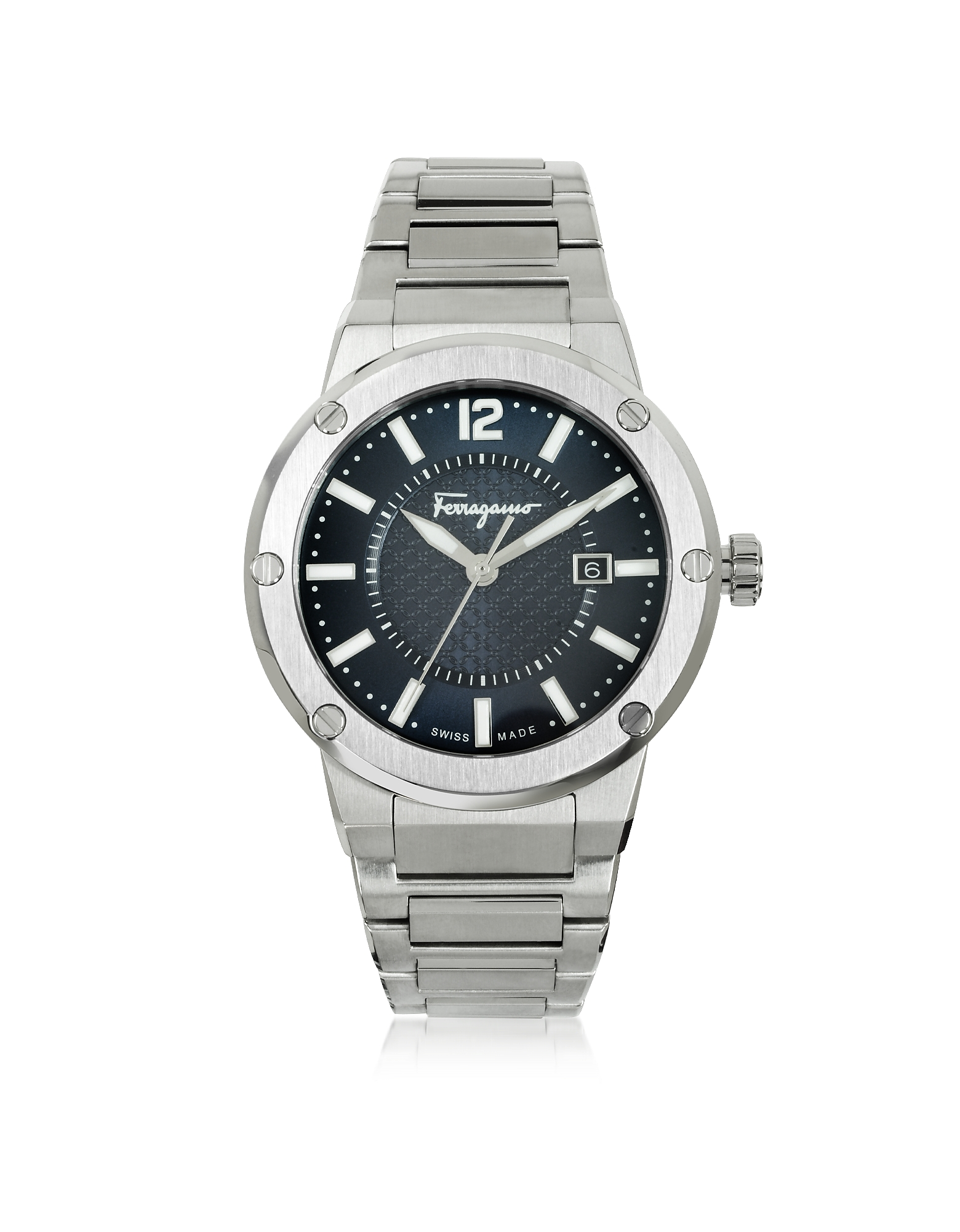 F-80 Silver Tone Stainless Steel Men's Watch