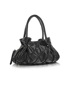 Pleated Nappa Leather Satchel Bag - Fontanelli