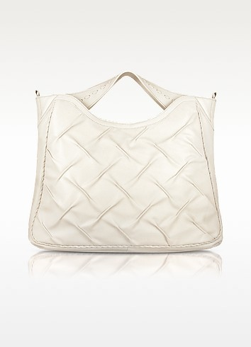 Pleated Nappa Leather Tote Bag - Fontanelli