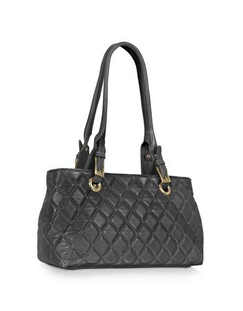 Quilted Leather Satchel Bag