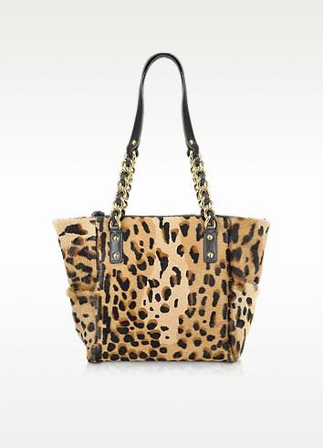 Calfhair Leopard Print Mini Tote - Fontanelli