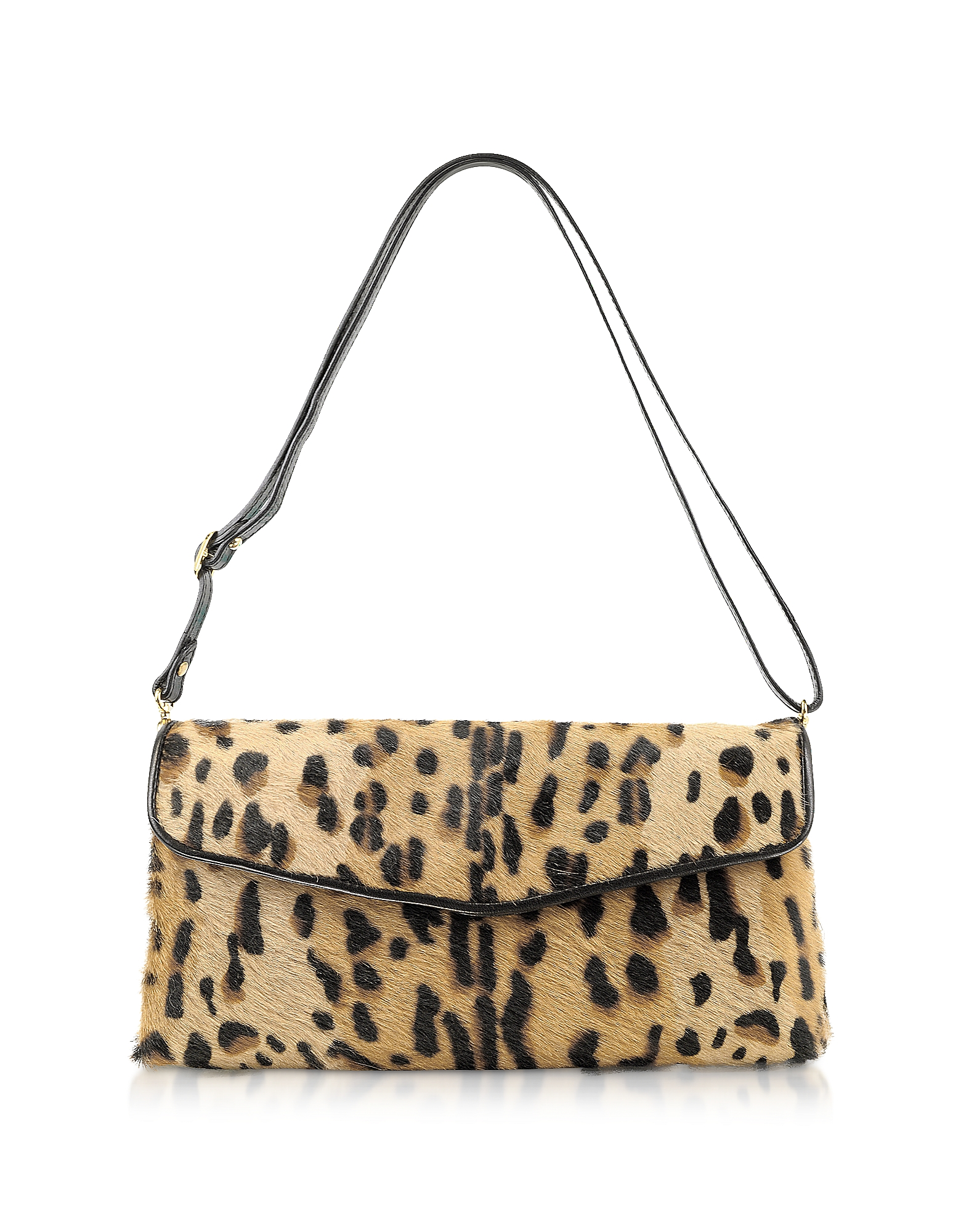 Fontanelli Handbags, Calfhair Leopard Print Shoulder Bag