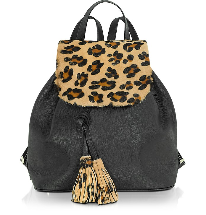 Calfhair and Leather Backpack - Fontanelli