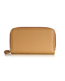 Leather Zip-Around Wallet - Fontanelli
