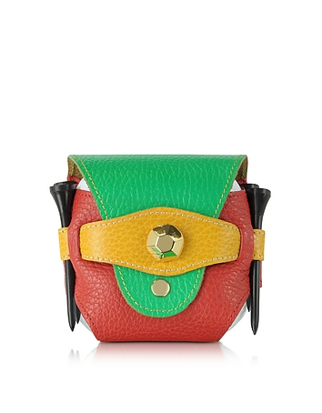 Fontanelli - Multicolor Leather Golfball Holder