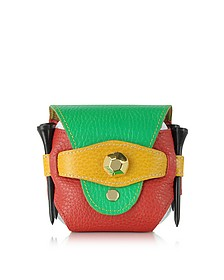 Multicolor Leather Golfball Holder - Fontanelli