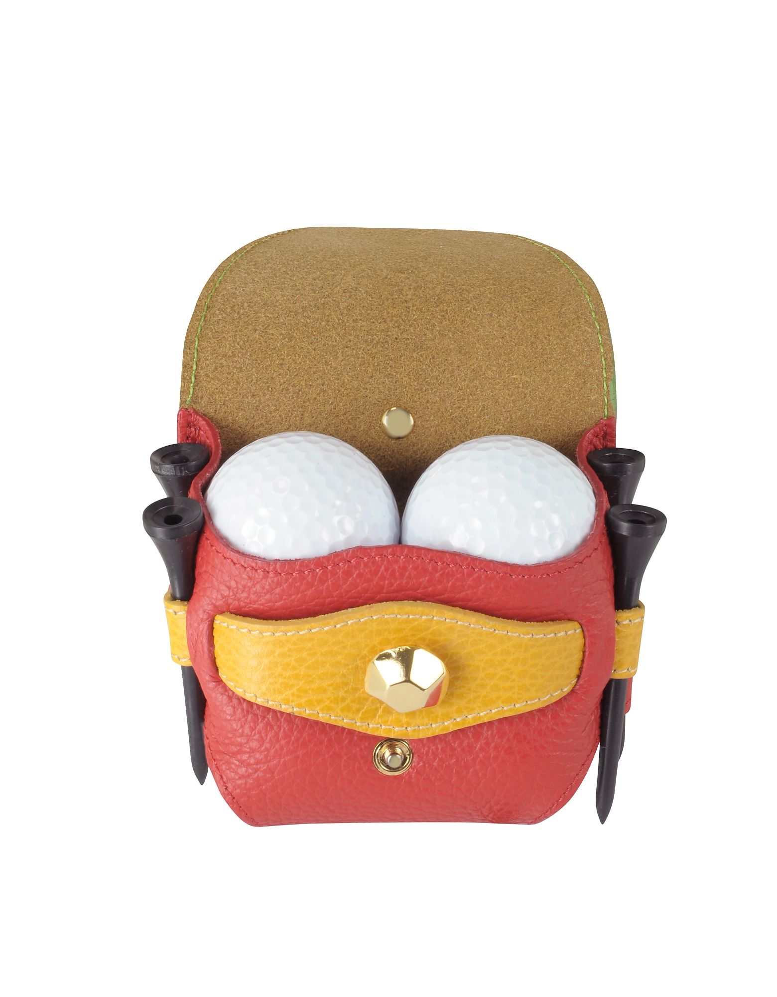 Multicolor Leather Golfball Holder от Forzieri.com INT