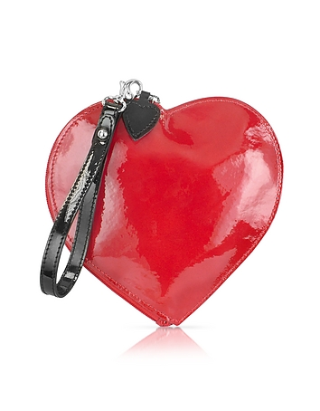 Fontanelli - Patent Leather Heart Coin Purse