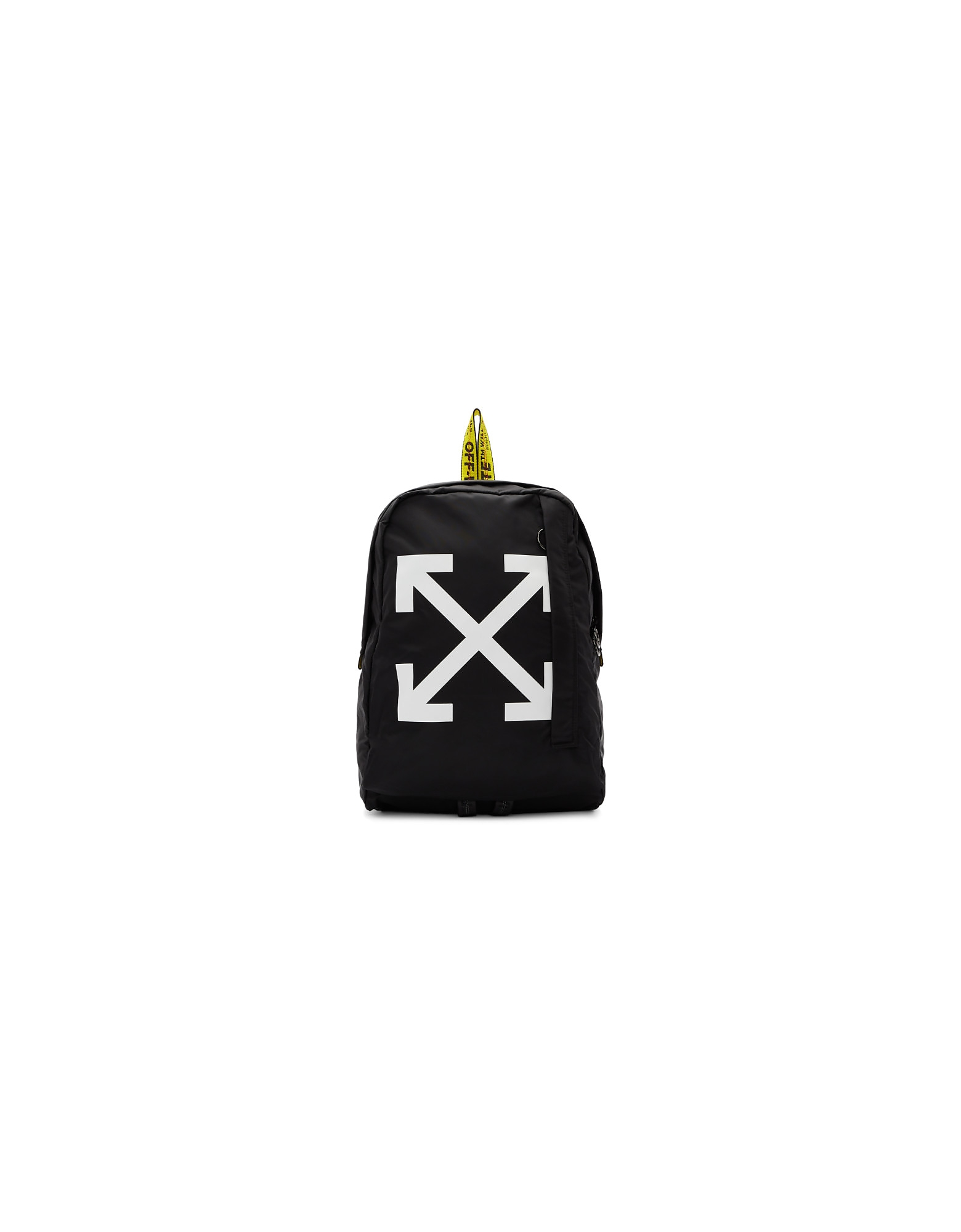 Off-White Designer Handbags, Black Easy Backpack