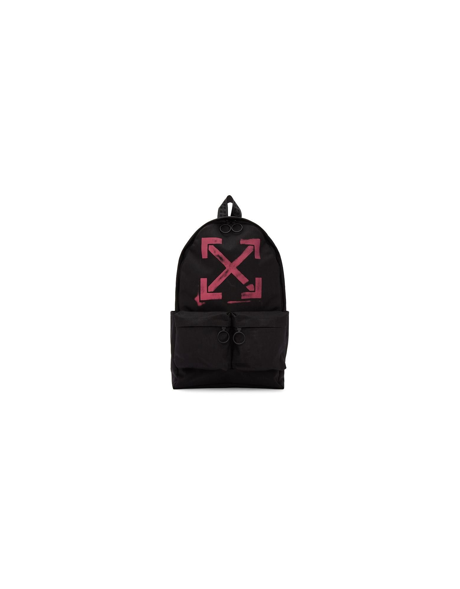 Off-White Designer Handbags, Black Arrows Backpack