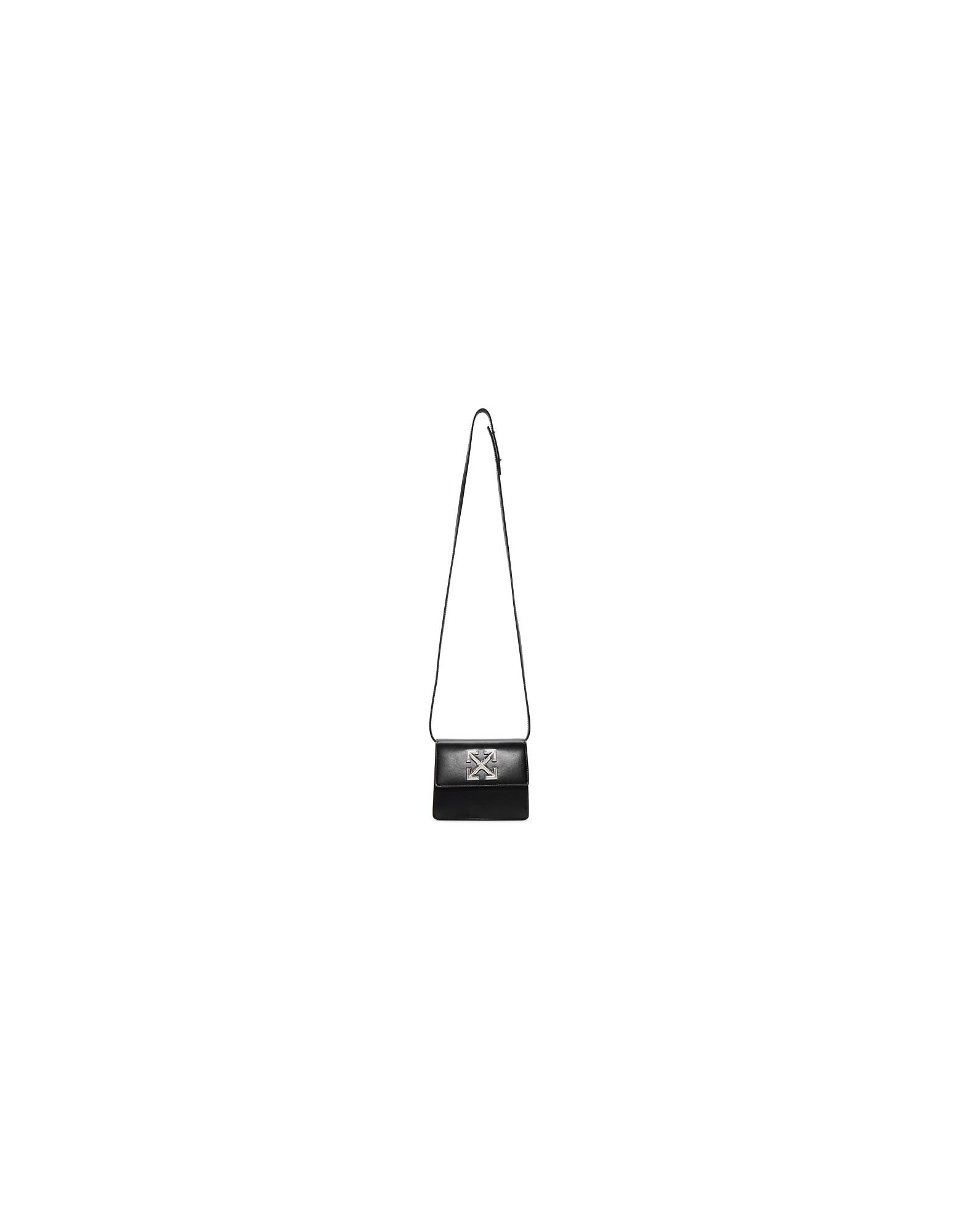 Off-White Designer Handbags, Black Jitney 0.7 Bag