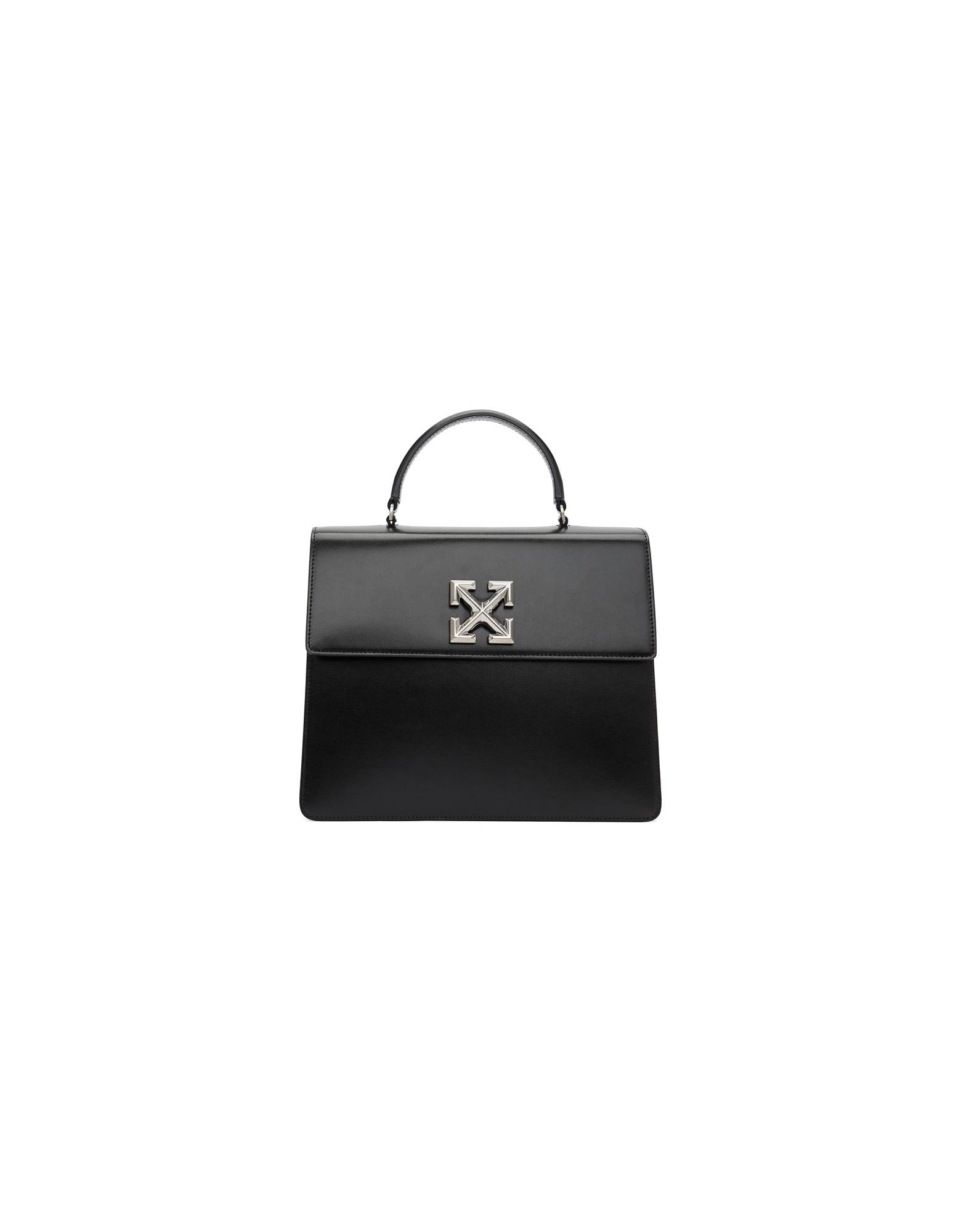 Off-White Designer Handbags, Black Jitney 4.3 Bag