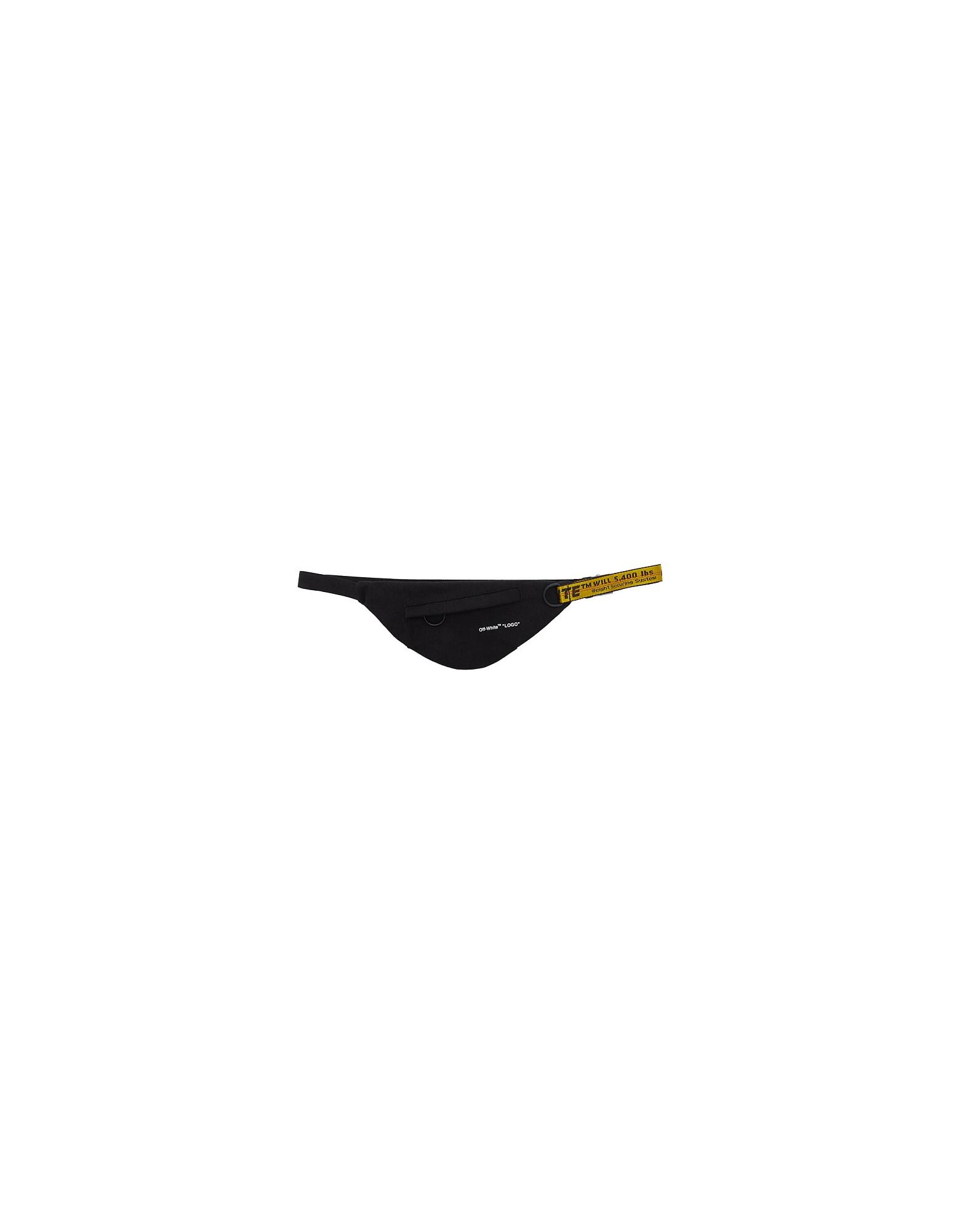 Off-White Designer Handbags, Black Denim Waist Bag