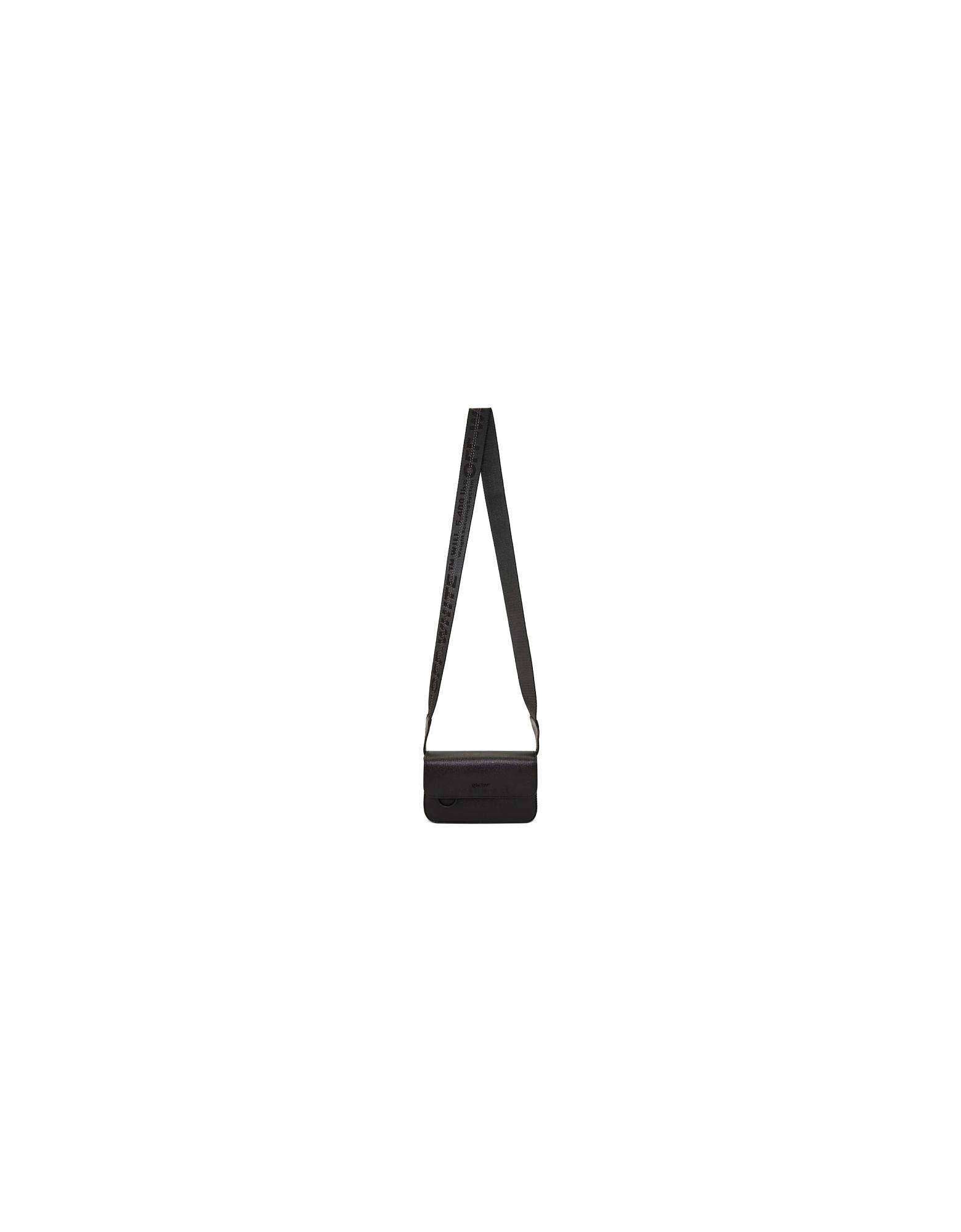 Off-White Designer Handbags, Black Flap Crossbody Bag