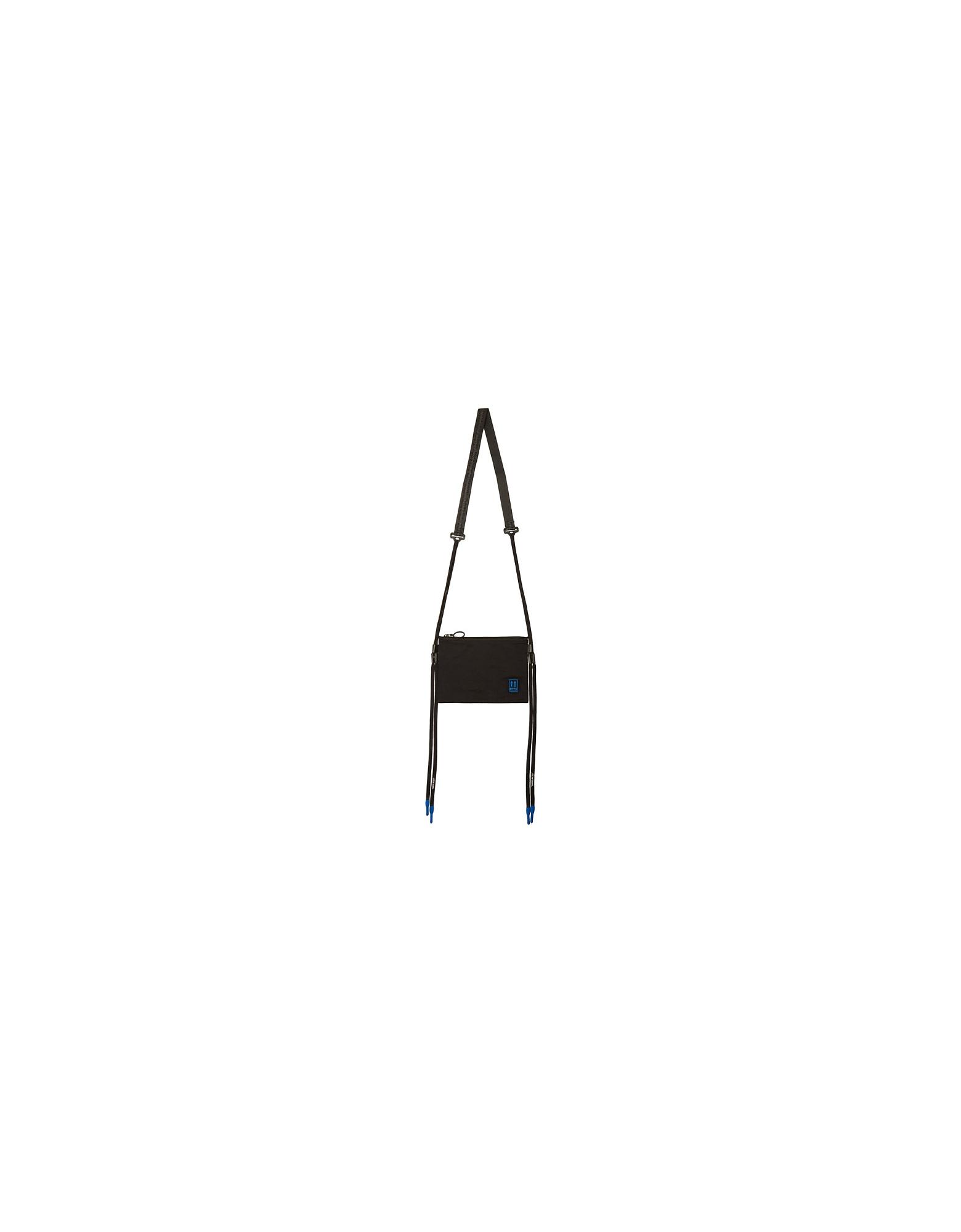 Off-White Designer Handbags, Black Flat Crossbody Bag