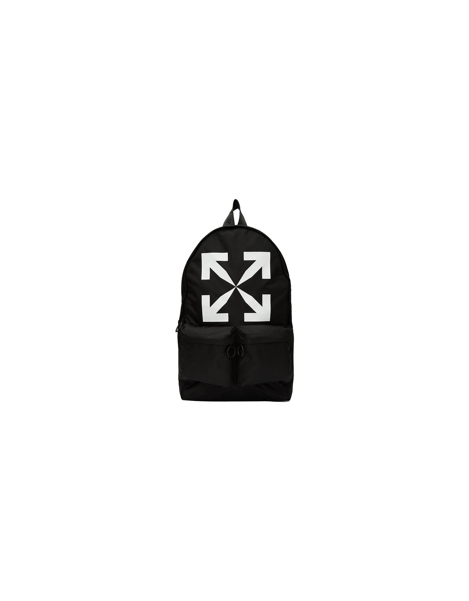 Off-White Designer Handbags, Black Arrow Backpack