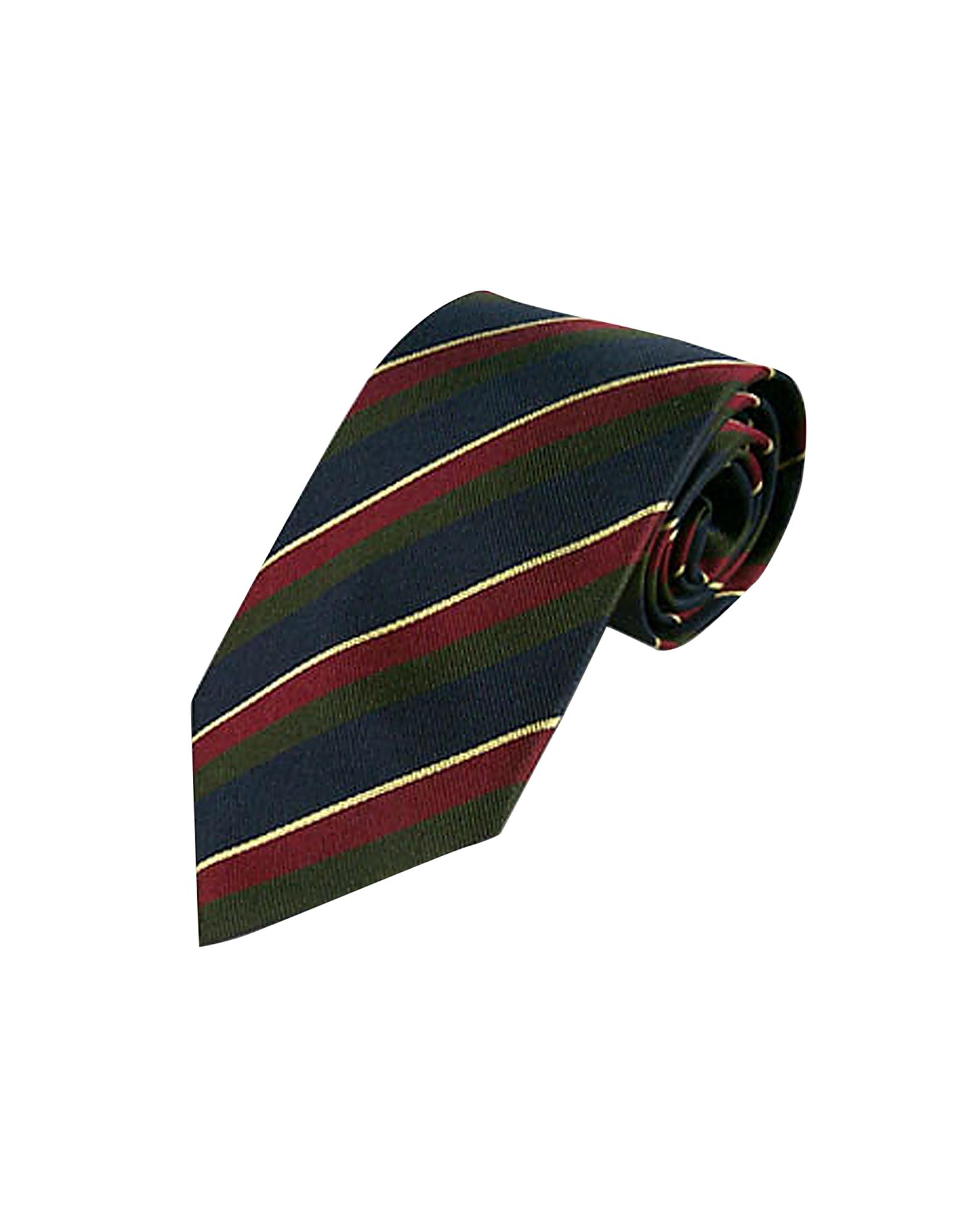 Regimental Silk Tie, Dark blue