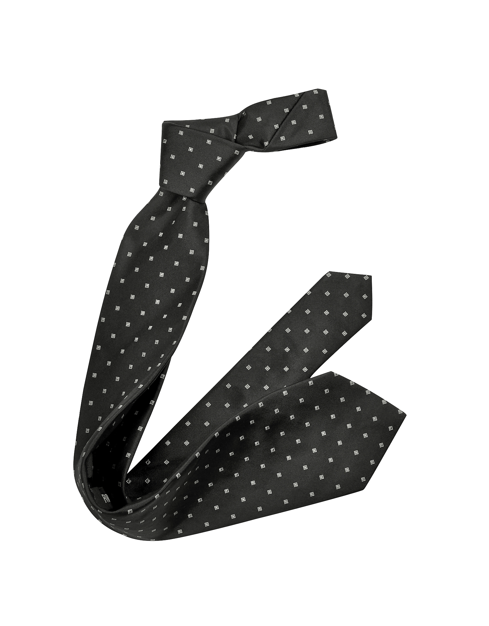 Outlined Diamond Pattern Woven Silk Tie от Forzieri.com INT