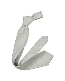 Outlined Diamond Pattern Woven Silk Tie - Forzieri