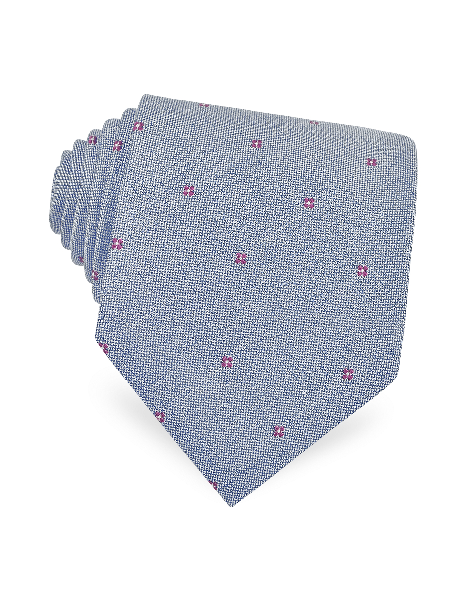 Red Floral Pattern Woven Silk Tie от Forzieri.com INT