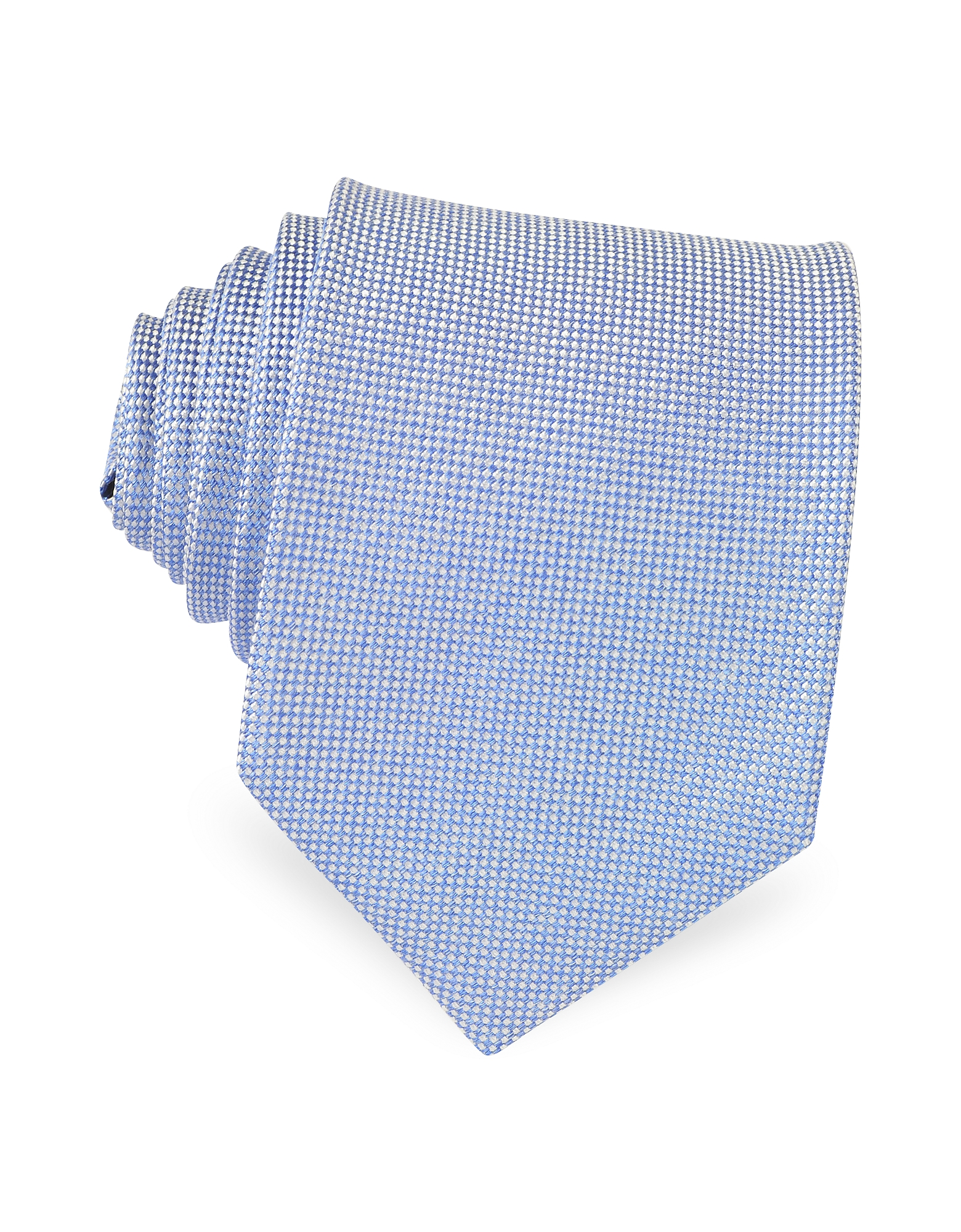 Forzieri Ties, Light Blue Woven Silk Tie