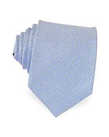 Light Blue Woven Silk Tie - Forzieri