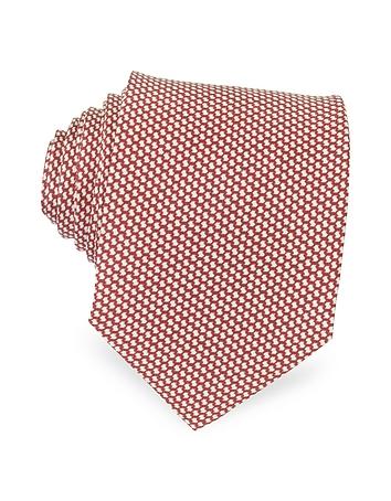 Forzieri - Bicolor Woven Silk Tie