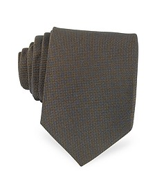 Solid Woven Silk Tie - Forzieri