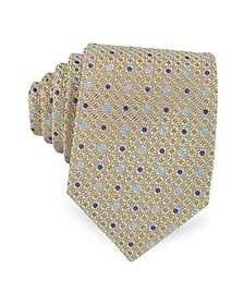 Cravate en Soie Tissée à Pois Bicolores - Forzieri