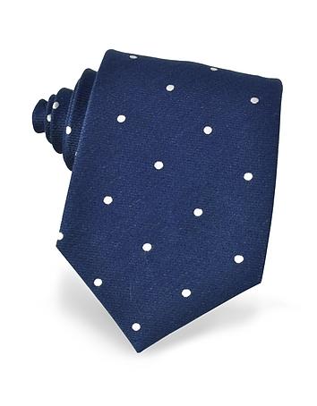 Forzieri - Polkadots Woven Silk Tie