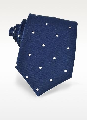 Polkadots Woven Silk Tie - Forzieri