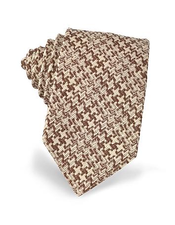 Forzieri - Pied de Poule Woven Silk Tie