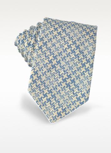 Pied de Poule Woven Silk Tie  - Forzieri