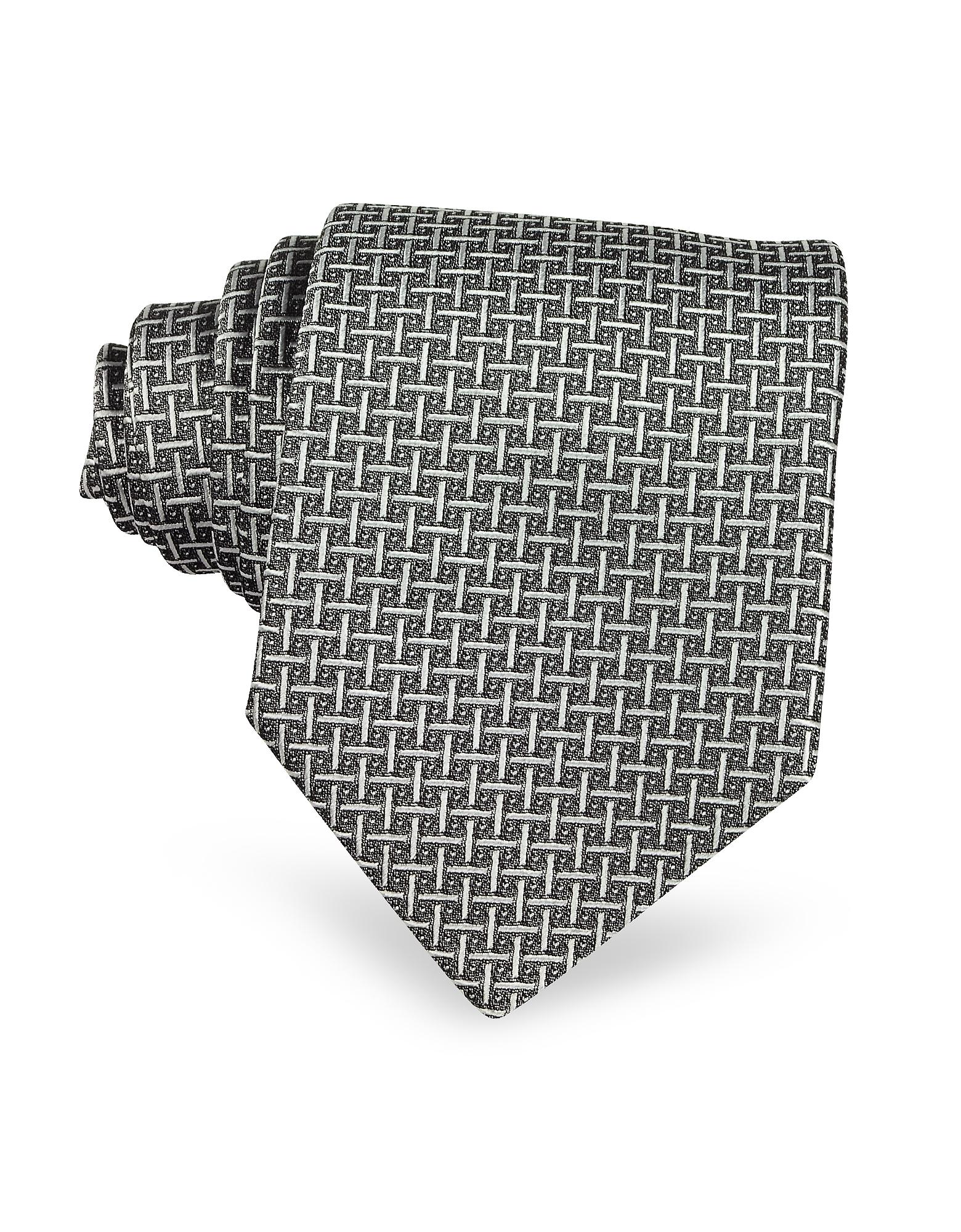 Silver Ceremony Silk Tie