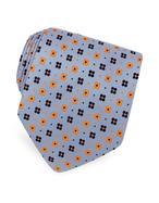 Forzieri  Cravate soie tissée à petites fleurs deux-tons
