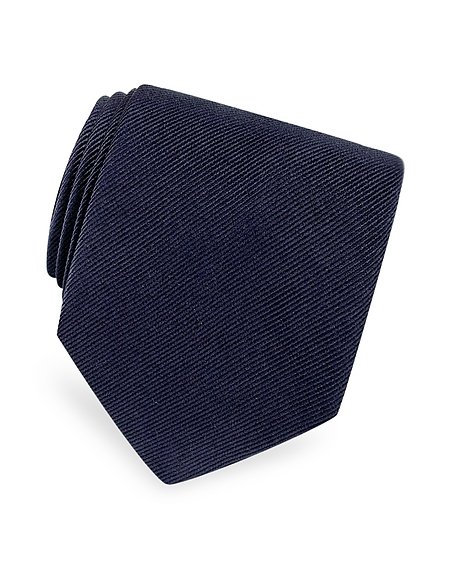 Foto Forzieri Cravatta in Twill di seta tinta unita Cravatte