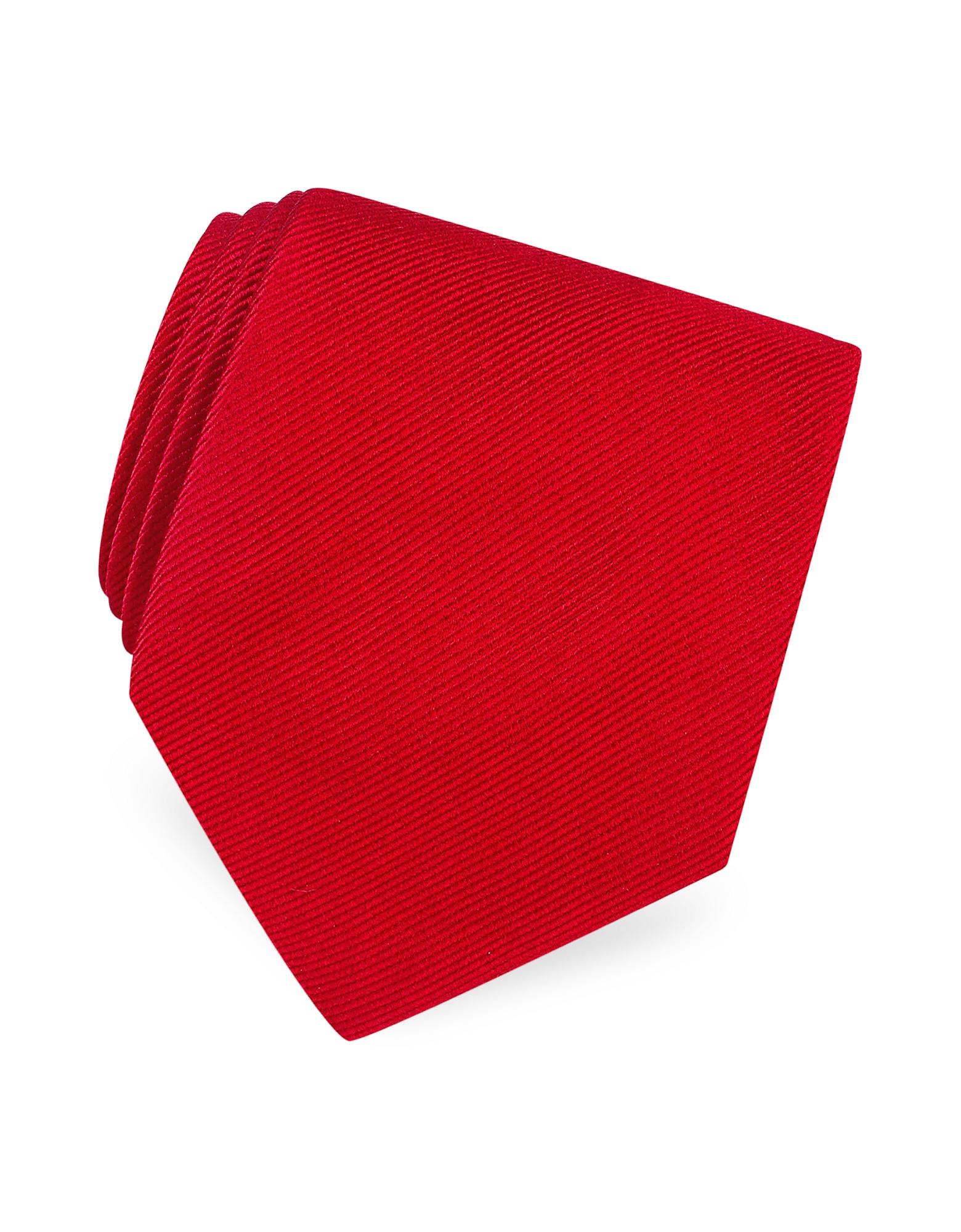 Forzieri Ties, Solid Twill Silk Tie