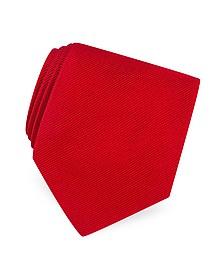 Solid Twill Silk Tie  - Forzieri
