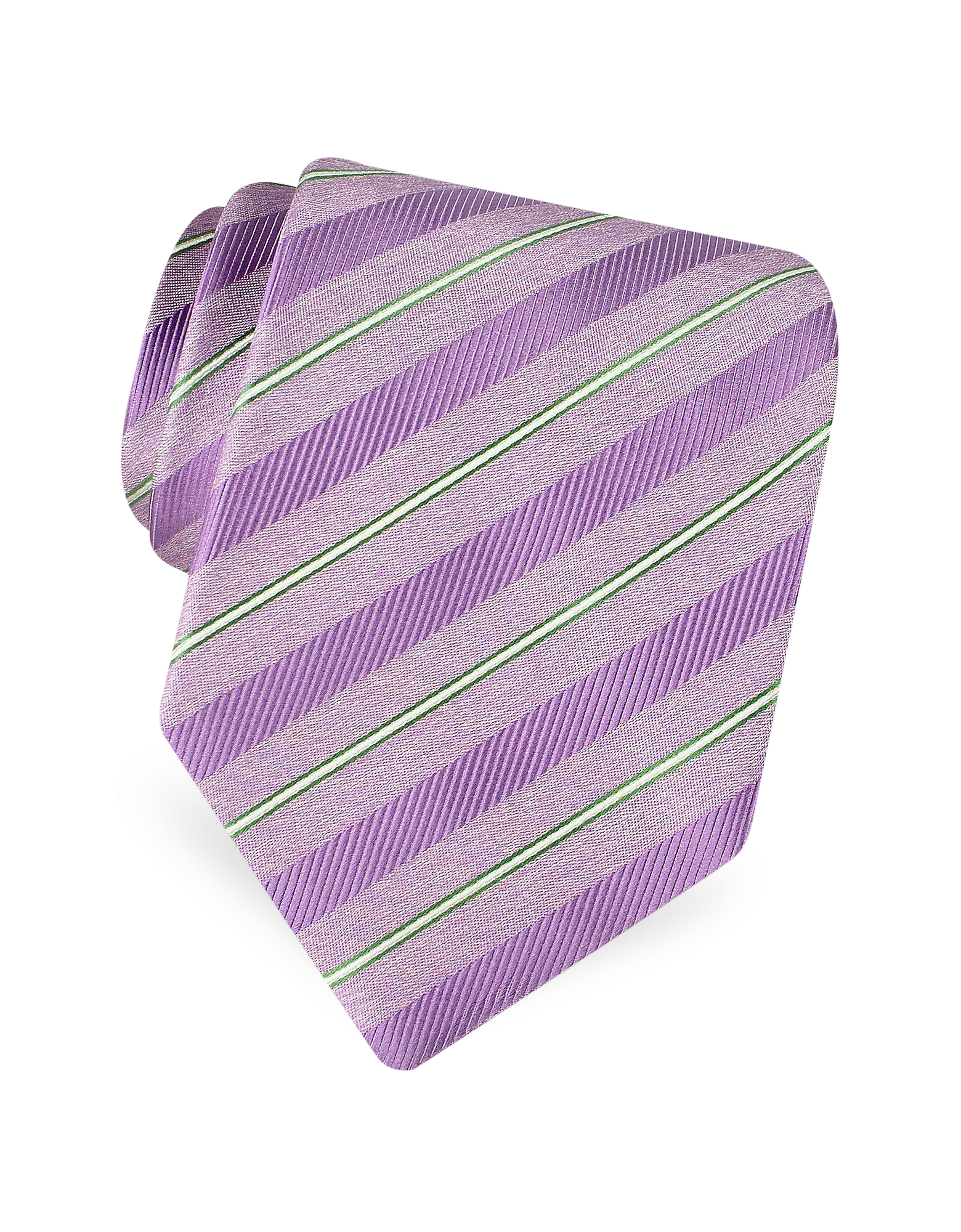 Gold Line- Pin Striped Diagonal Lines Woven Silk Tie