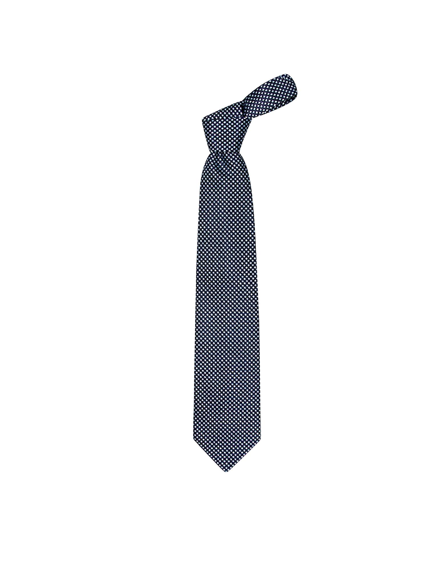 Blue Checks Basketweave Woven Silk Tie