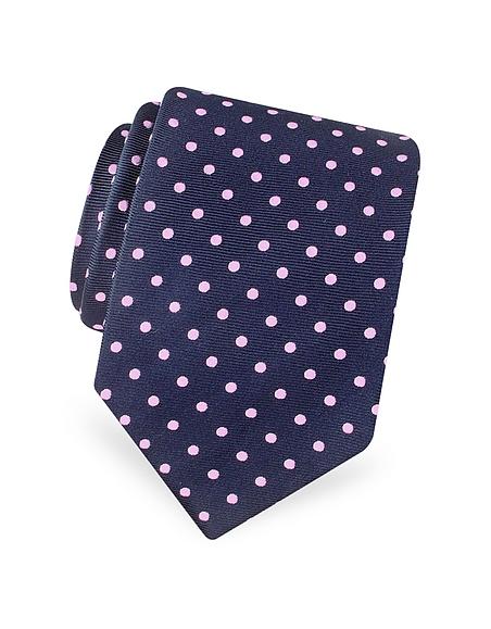 Foto Forzieri Gold Line - Cravatta in Seta a Pois Cravatte